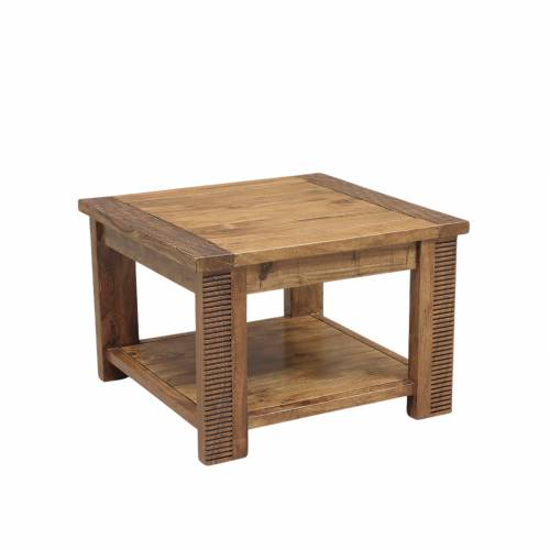 Bout de canapé bois massif strié