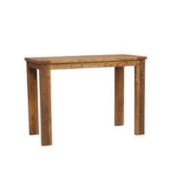 Table haute mange debout rectangulaire bois strié