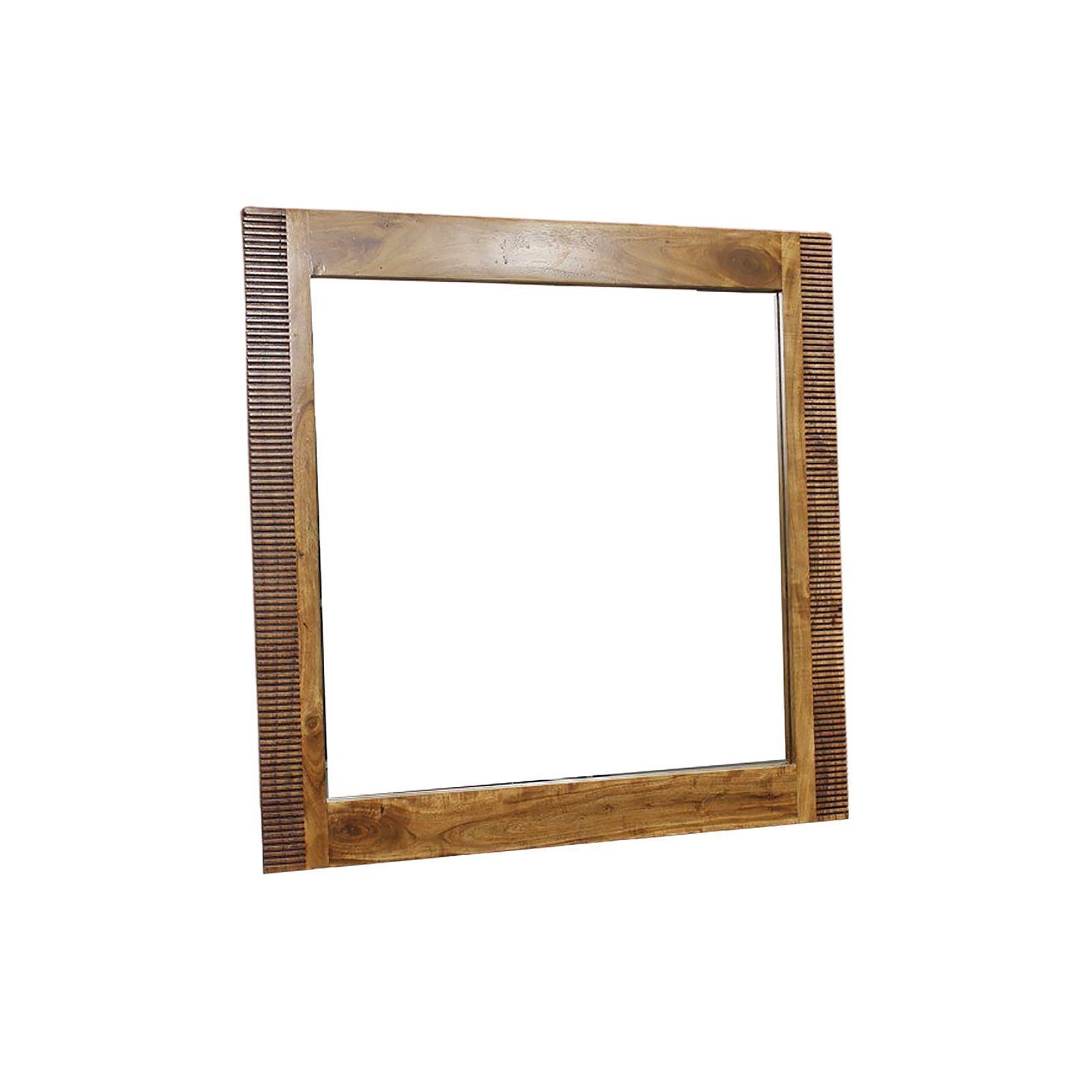 Miroir bois massif strié