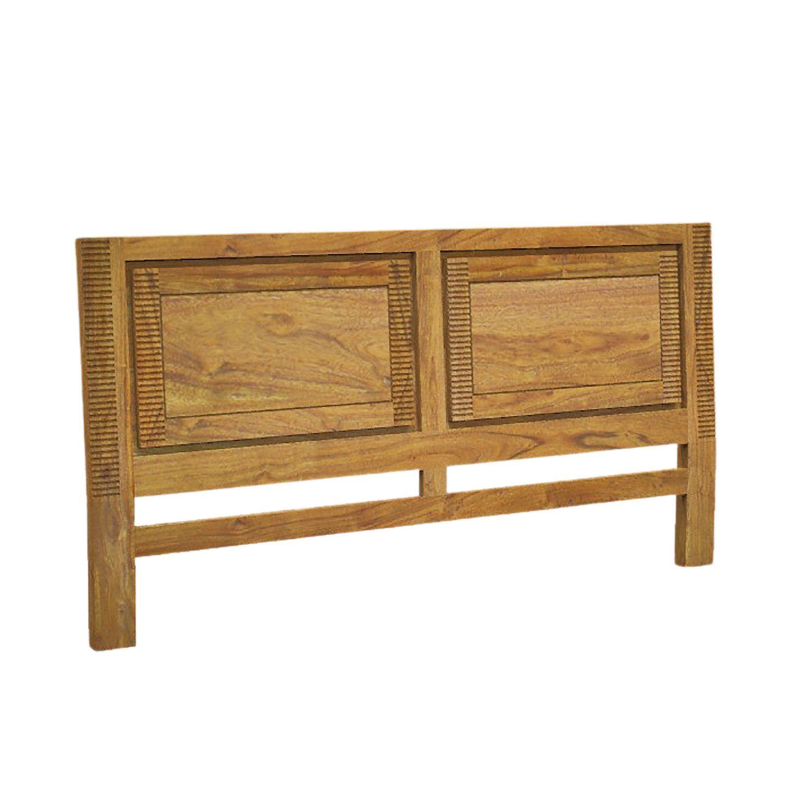 Tête de lit bois massif exotique strié