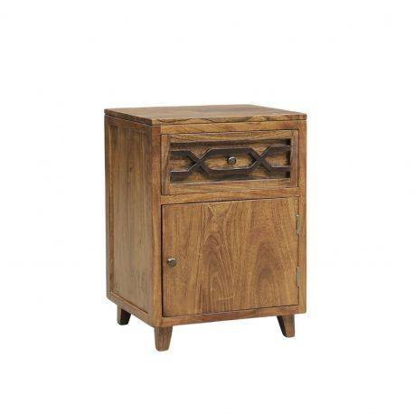 Chevet arabesque bois - Charnière droite | Acacia Mangalore
