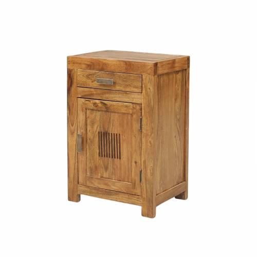 Chevet strié bois exotique de qualité