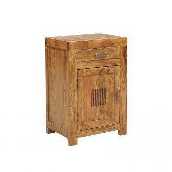 Chevet strié bois massif de qualité