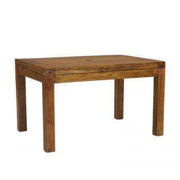 Table à manger rectangulaire avec 2 allonges en bois massif