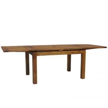 Table à manger rectangulaire avec 2 rallonges en bois de qualité