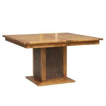 """Table à manger carrée bois sculpté bicolore 130 """"Acacia Maya"""""""