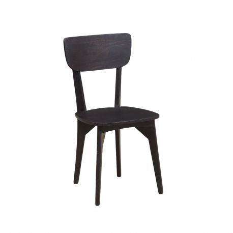 """Chaise rétro bois massif foncé  """"Manguier Amsterdam"""""""