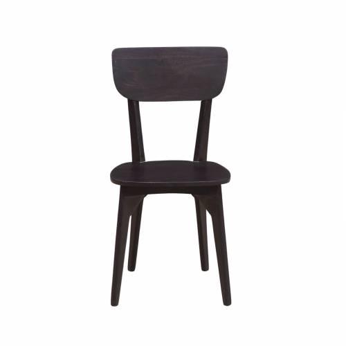 Chaise vintage wengé bois foncé