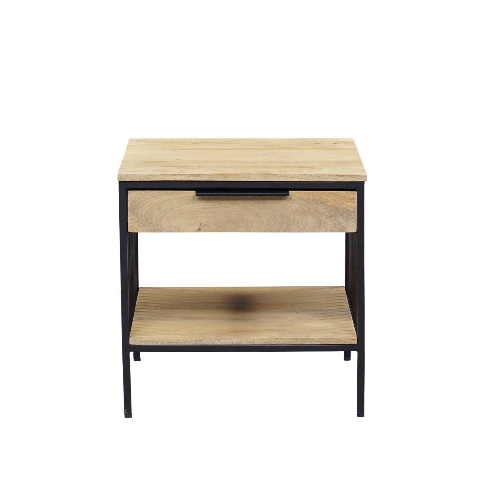 Chevet design industriel bois nature