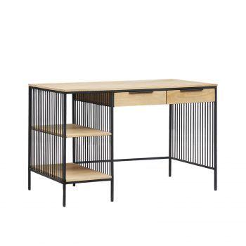 Bureau design industriel loft bois nature