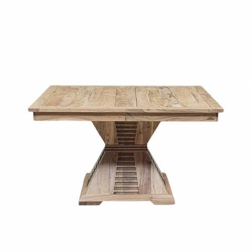 """Table à manger carrée - Rallonge centrale """"Acacia Luxor"""""""