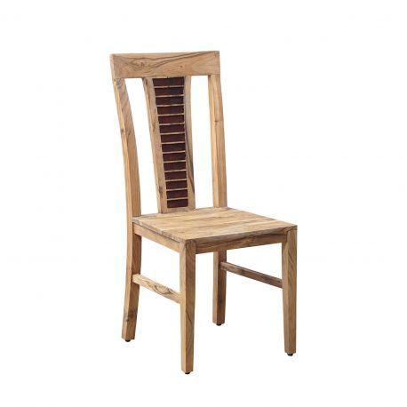 """Chaise bois bicolore """"Acacia Luxor"""""""