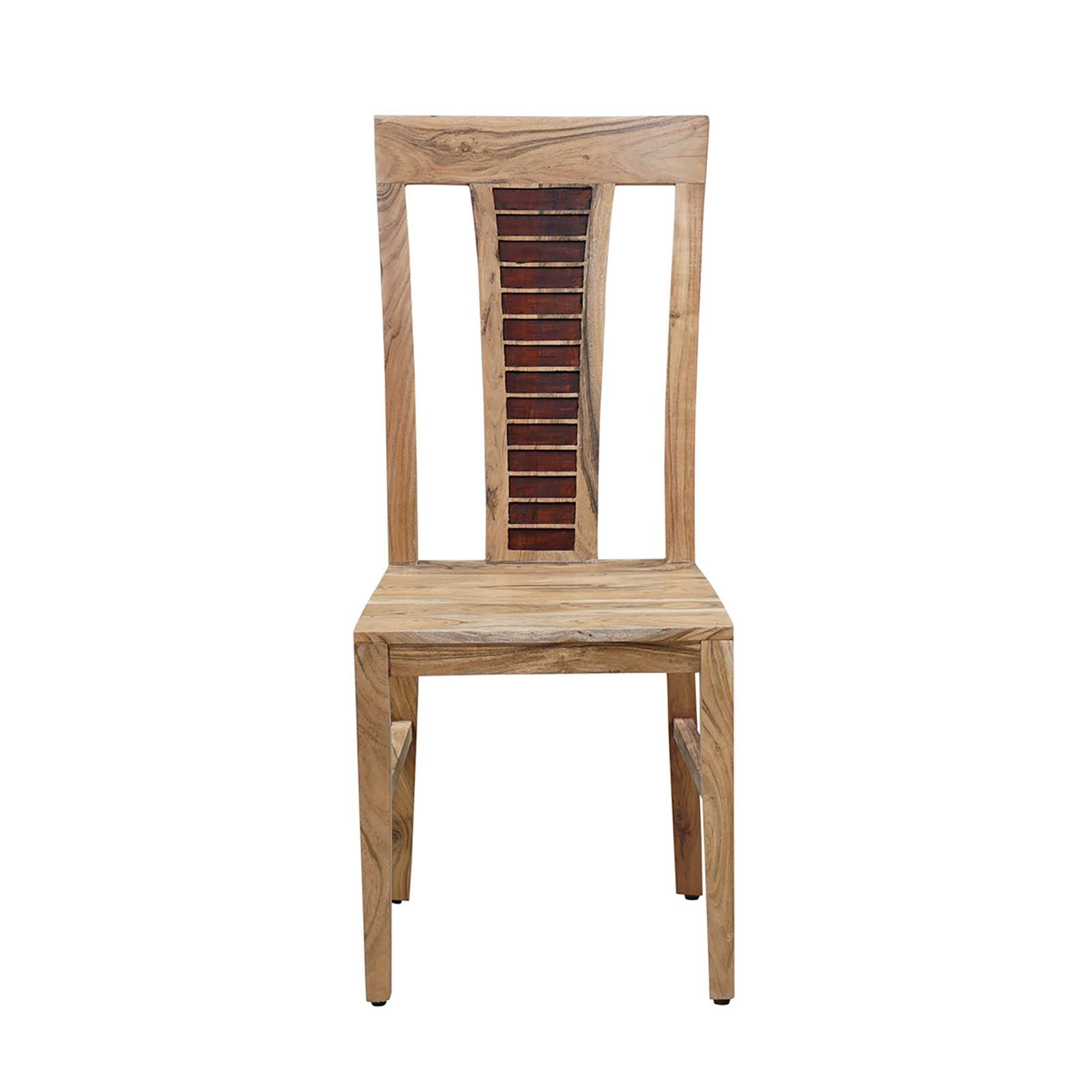Chaise bois bicolore