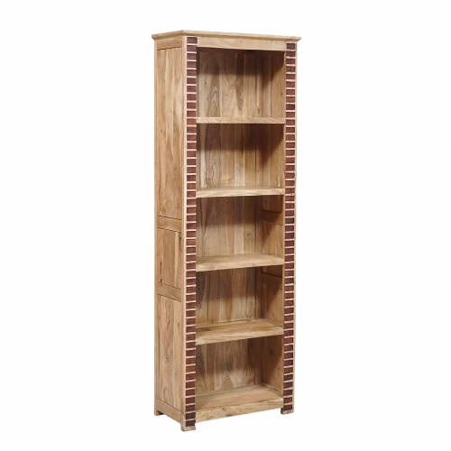 """Bibliothèque bois bicolore 5N """"Manguier Luxor"""""""