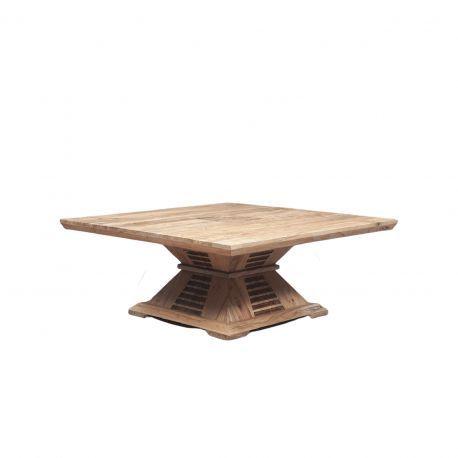 """Table basse carrée bois bicolore """"Acacia Luxor"""""""