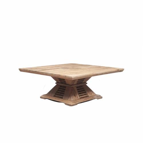 """Table basse bois bicolore """"Manguier Luxor"""""""