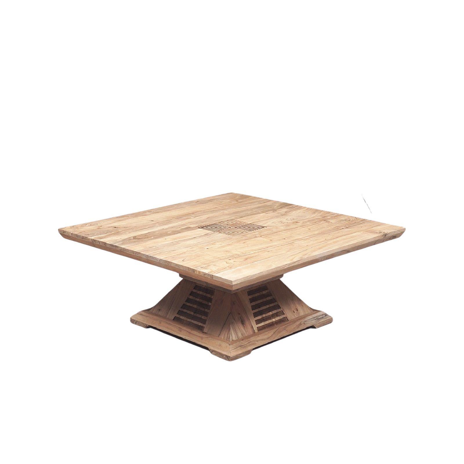 Table basse bois bicolore