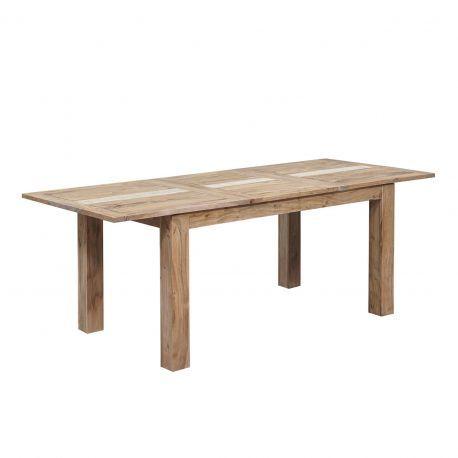 Table à manger plateau cannage 155 rallonge 60   Acacia Tatoo II