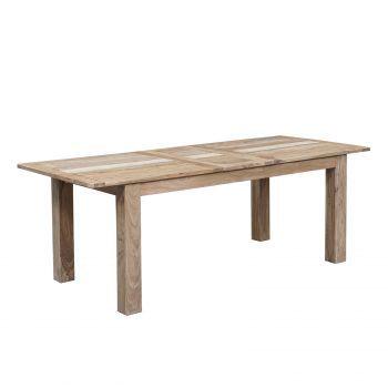 """Table à manger nature 180 rallonge 40 """"Acacia Tatoo II"""""""