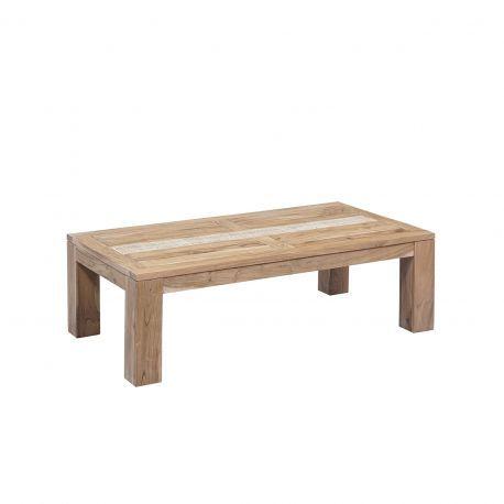 Table basse rectangulaire extensible plateau cannage   Acacia Tatoo II