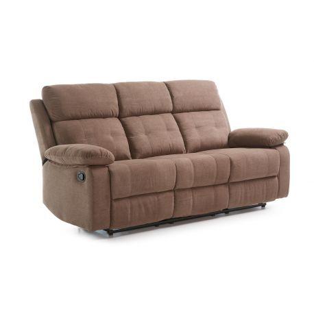 Canapé 3 places, 2 relax manuels Dakota