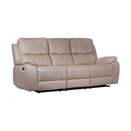 Canapé 3 places, 2 relax électriques Nebraska