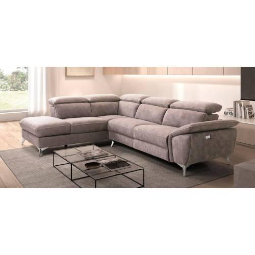 Canapé d'angle microfibre Santander gauche ou droite Canapé Confort Luxe - 6