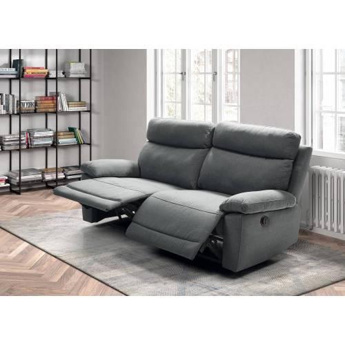 Canapé 3 places, 2 relax électriques Jerez Canapé Confort Luxe - 90