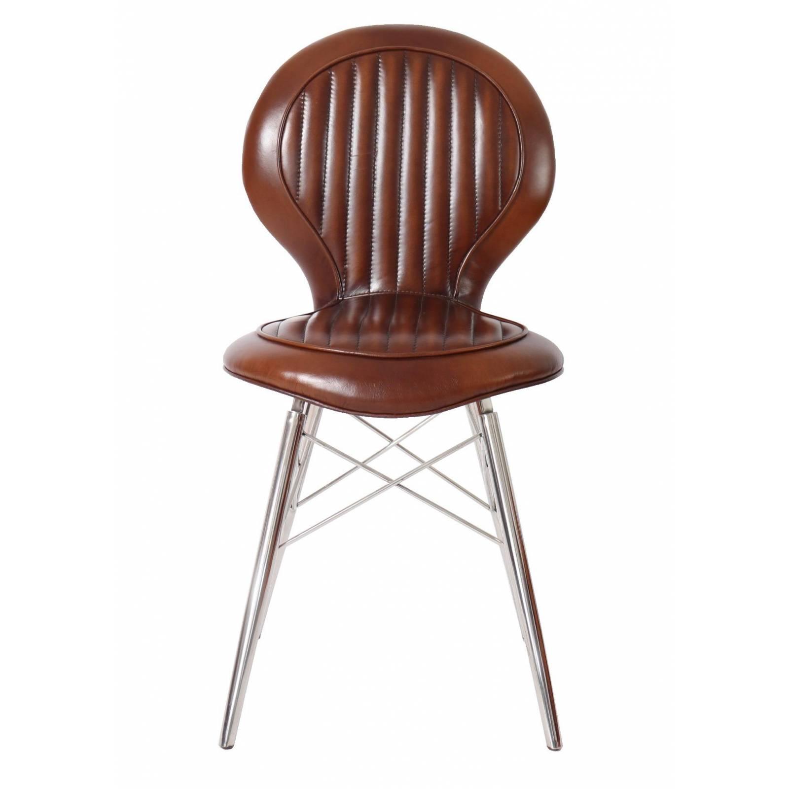 Chaise DC3, cuir vintage Chaises - 1