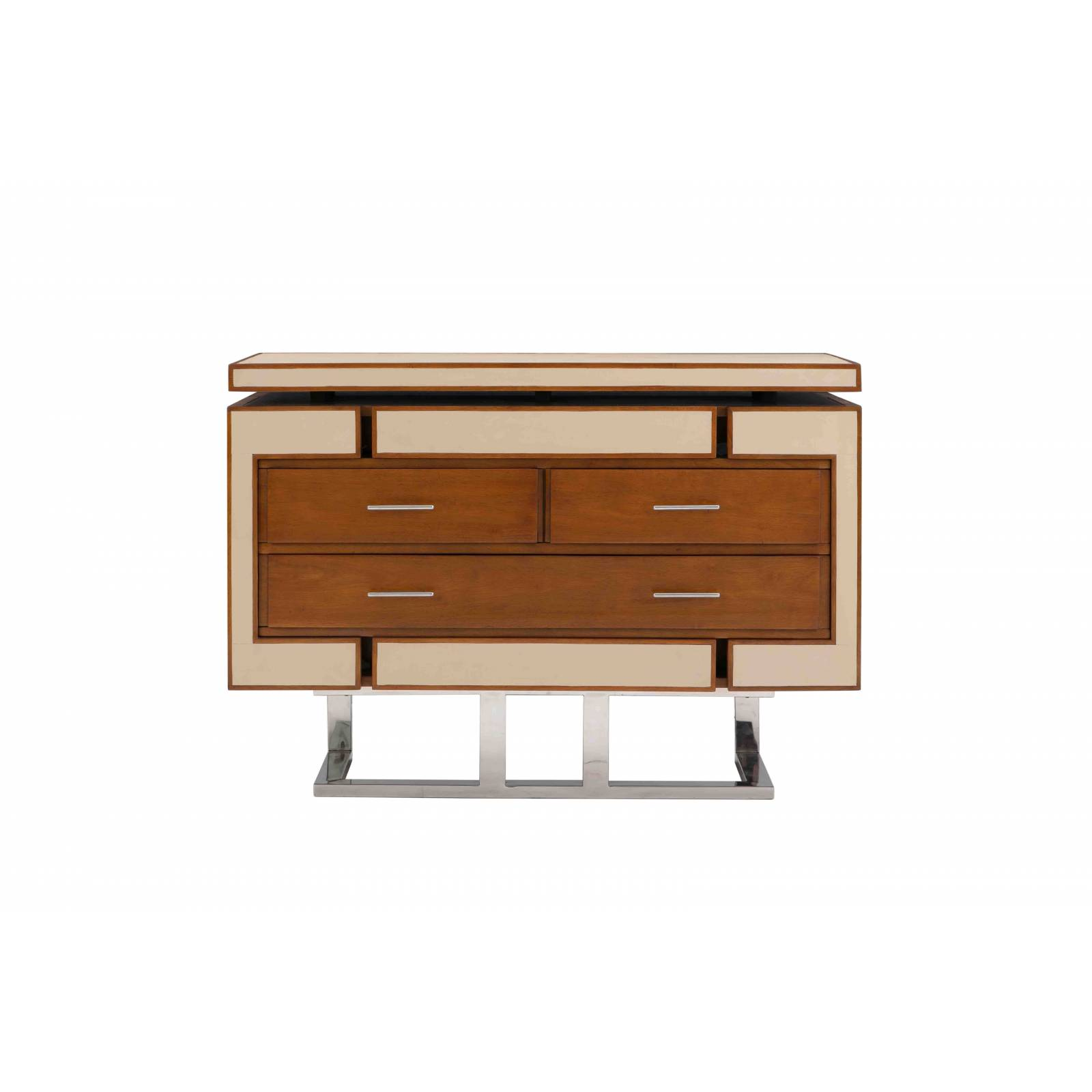 Commode AZUR, cuir beige Mobilier Club Vintage - 5