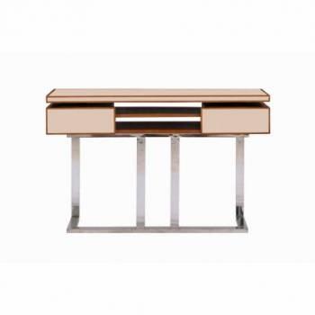 Console AZUR, cuir beige Mobilier Club Vintage - 9