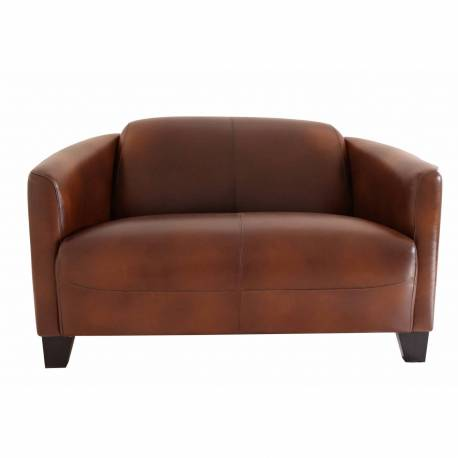 Canapé BARQUETTE, cuir vintage