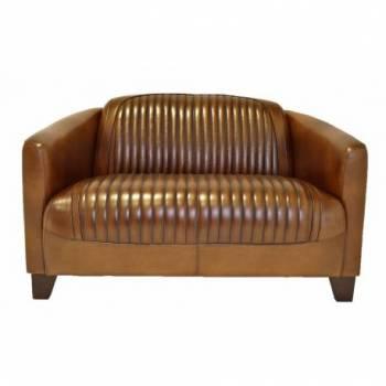 Canapé BARQUETTE SPORT, cuir vintage Club Bar Vintage - 4