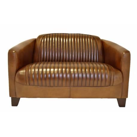Canapé BARQUETTE SPORT, cuir vintage