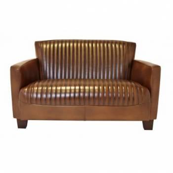 Canapé NOGENT SPORT, cuir vintage Mobilier Club Vintage - 12