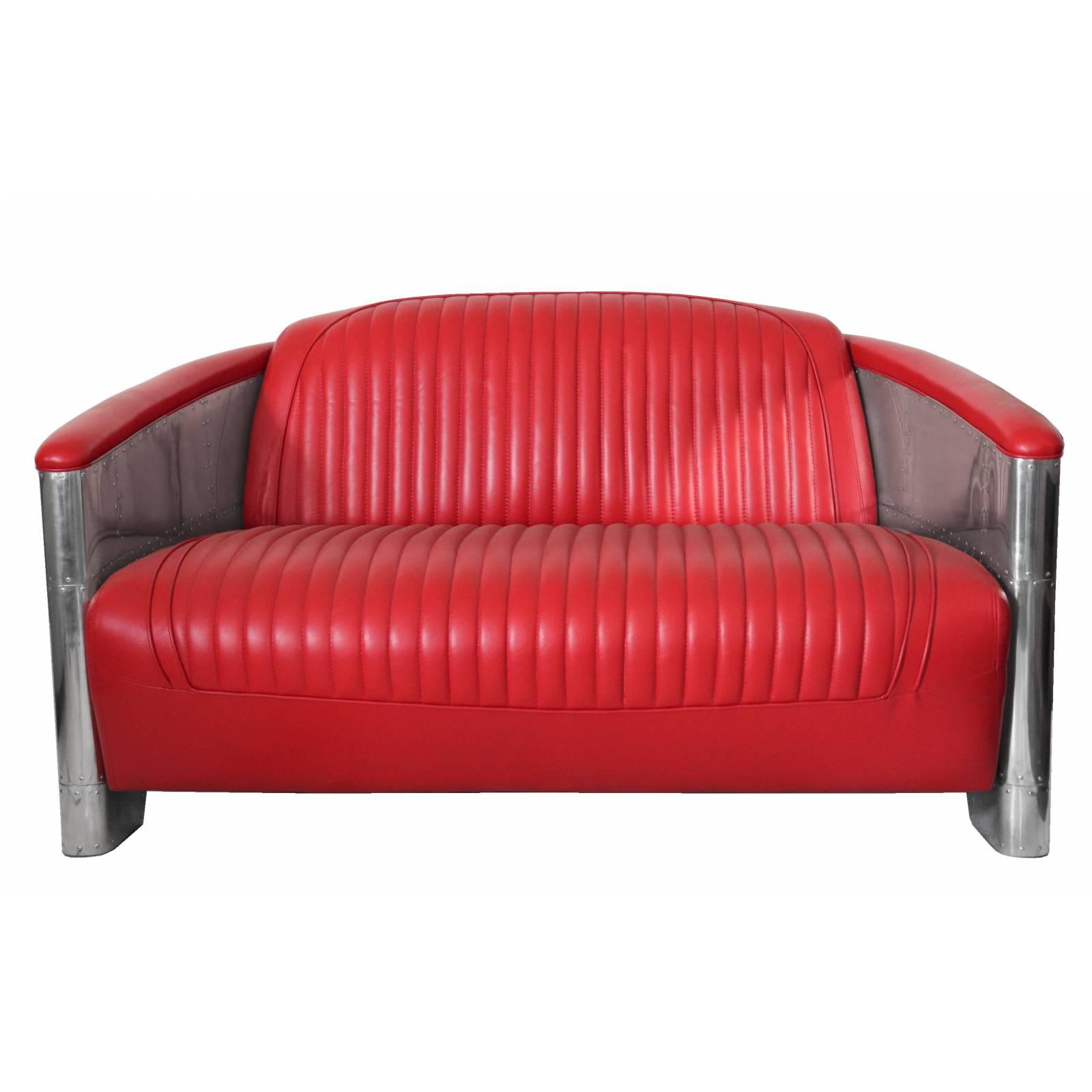 Canapé DC3, cuir rouge Canapés - 1