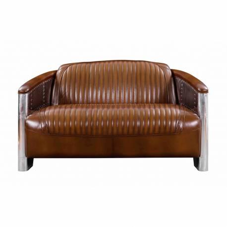 Canapé DC3, cuir vintage