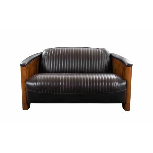 Canapé CANOE, cuir marron foncé Mobilier Club Vintage - 3