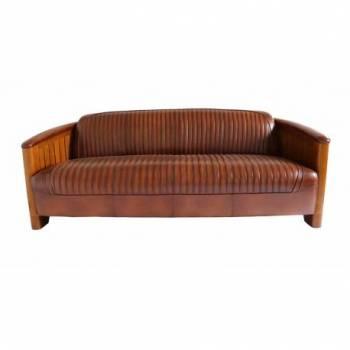 Canapé CANOE 3 places, cuir vintage Mobilier Club Vintage - 4