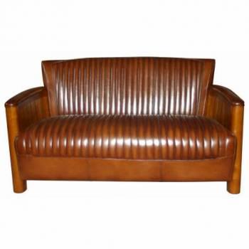 Canapé COGNAC, cuir vintage Mobilier Club Vintage - 7