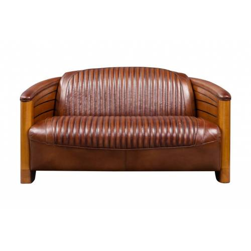 Canapé PIROGUE, cuir vintage Mobilier Club Vintage - 2