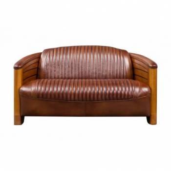Canapé PIROGUE 3 places, cuir vintage Mobilier Club Vintage - 4