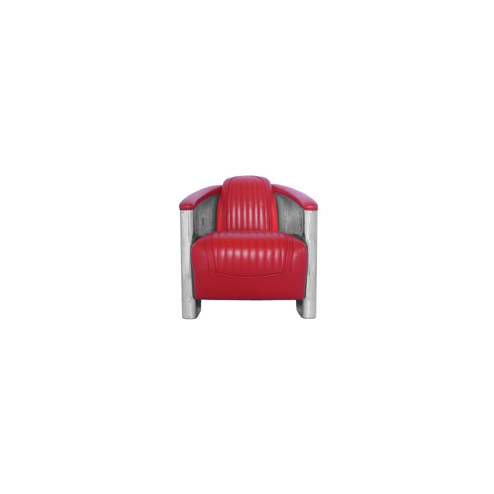 Fauteuil Club DC3, cuir rouge Fauteuils - 18