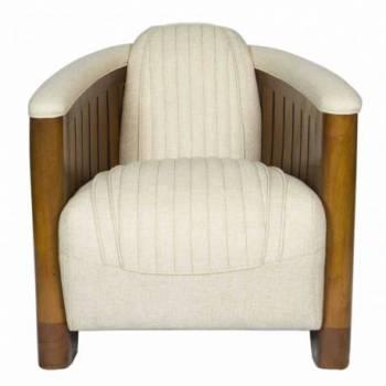 Fauteuil Club CANOE, tissu beige Mobilier Club Vintage - 14