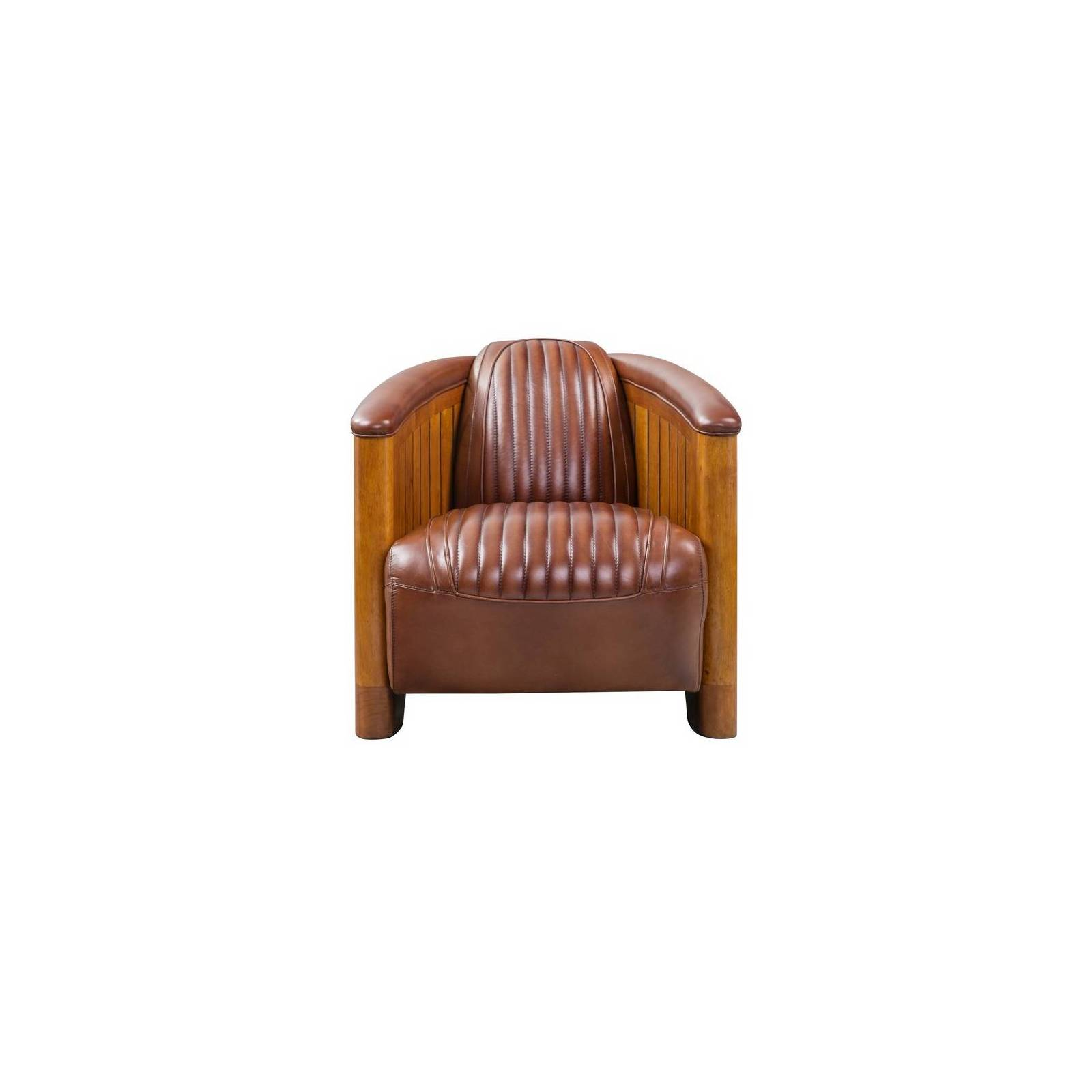 Fauteuil Club CANOE, cuir vintage Mobilier Club Vintage - 19