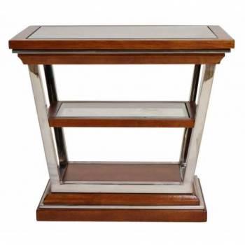 Table d'appoint MONTAIGNE RECTANGLE, noyer Mobilier Club Vintage - 1