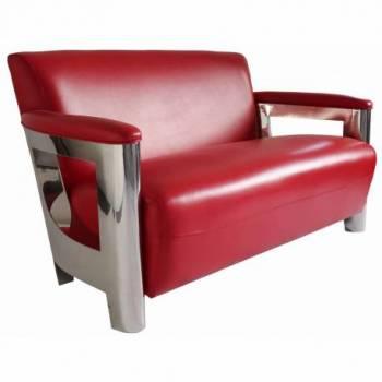 Canapé NOGENT x ASTON, cuir rouge Mobilier Club Vintage - 8