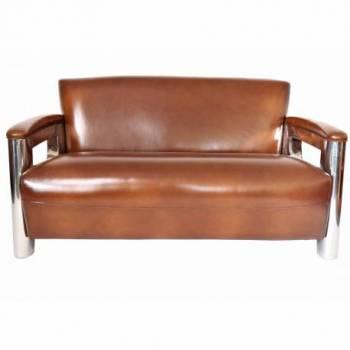 Canapé NOGENT x ASTON, cuir vintage Mobilier Club Vintage - 13