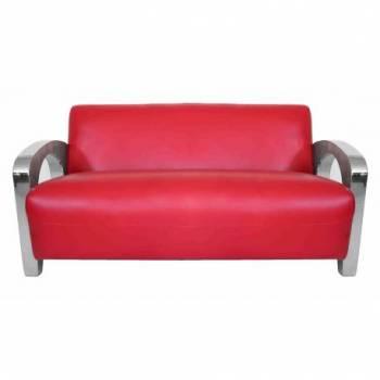 Canapé SYDNEY, cuir rouge Mobilier Club Vintage - 1