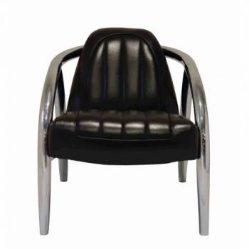 Fauteuil QUAD, cuir noir Mobilier Club Vintage - 10